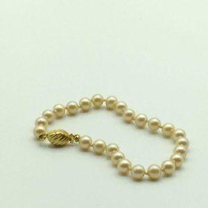 Knotted Pearl Bracelet Vintage Designer Marvella